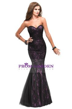 Prom dresses Black Lace Sweetheart Mermaid Floor Length Corset