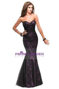 Prom dresses Black Lace Sweetheart Mermaid Floor Length Corset
