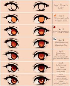 Dessiner des yeux ombre/lumière
