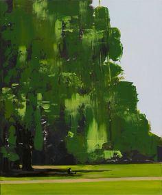Grazyna Smalej. Green Park -scena II. Acrilico e olio su tela, 2013