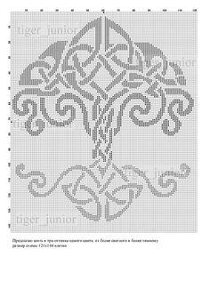 Celtic tree of life cross stitch Celtic Cross Stitch, Cross Stitch Tree, Cross Stitch Charts, Cross Stitch Patterns, Knitting Charts, Knitting Stitches, Knitting Patterns, Cross Stitching, Cross Stitch Embroidery