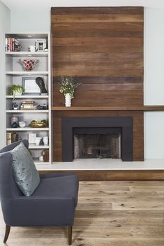 Modern Built In Fireplace . Modern Built In Fireplace . Custom Modern Wall Unit Made Pletely From A Printed Fireplace Update, Farmhouse Fireplace, Home Fireplace, Fireplace Remodel, Living Room With Fireplace, Living Room Decor, Fireplace Ideas, Rustic Farmhouse, Living Rooms