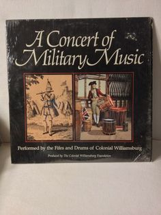 """A Concert Of Military Music / Fifes & Drums / Williamsburg / 12"""" Vinyl LP Record"""