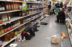 People rest at the aisle of a Publix grocery store after being stranded due to a snow storm in Atlanta, Georgia, January Publix Grocery Store, Pretty Pictures, Cool Photos, People Sleeping, Severe Weather, Cold Weather, Winter Storm, How To Stay Awake, Nbc News