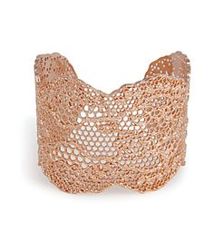 Emulating the romance of lace, this rose gold cuff from Aurélie Bidermann adds a feminine touch to your new-season style #Stylebop