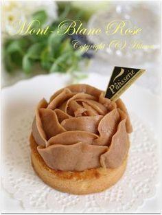「モンブランローズ♪」hitomi   お菓子・パンのレシピや作り方【corecle*コレクル】 Unique Desserts, Beautiful Desserts, Sweet Desserts, Sweet Recipes, Delicious Desserts, Mini Cakes, Cupcake Cakes, Cupcakes, Pastry Recipes