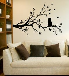 Die 7 Besten Bilder Von Wandtattoo Living Room Black Cats Und