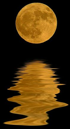 Reflection of the moon on water...
