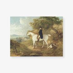 George Morland was an English painter that depicted the detail of animals and rustic scenes. Published in1794, this painting displayspurity and simplicity, and shows much direct and instinctive feeling for nature. His coloring is mellow, rich in tone, and vibrant in quality.