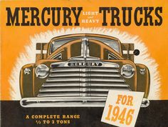 1946 Mercury Trucks Multimedia Two Color Brochure Cover / Acrylic and Brush / AirBrush / Colored Pencil and screen printing.