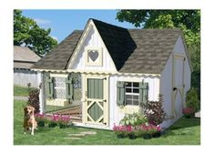 This is a fancy dog house, but I think it would also work for a chicken coop.
