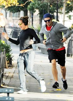 Sebastian Stan and Margarita Levieva out for a run in NYC, 14 October 2016