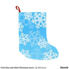 Cute blue and white Christmas snowflakes Small Christmas Stocking #Christmasstocking #snowflakes #skyblue #christmasgiftideas #afflink Christmas Snowflakes, Christmas Home, Christmas Gifts, White Christmas Stockings, Personalized Stockings, Mantle, Art Pieces, Blue And White, Gift Ideas