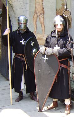 My XII century Knight Hospitaller reenactment costume. The Knights Hospitaller, also known as the Order of Knights of St John of Jerusalem were among the most famous of the Western Christian milita...