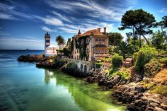 An incredible view of Cascais - a gorgeous little coastal town in Portugal