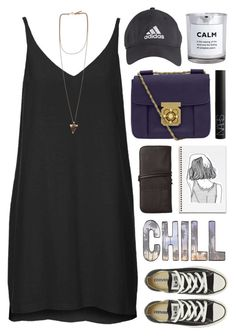 """""""Not So Sports Day"""" by yen-and-len ❤ liked on Polyvore featuring Louise Young Cosmetics, Topshop, Converse, Givenchy, Chloé, NARS Cosmetics and H&M"""