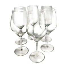 Epicureanist Illuminati White Wine Glasses, Clear