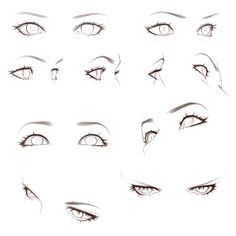 Face Drawing Reference, Drawing Body Poses, Human Drawing, Art Reference Poses, Female Drawing, Hand Reference, Gesture Drawing, How To Draw Anime Eyes, Anime Eyes Drawing