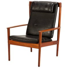 Lounge Chair PJ56 Teak and Leather by Grete Jalk
