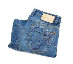 Diesel Model Viker Low Rise Jeans Size W29 x L34 Men's #DIESEL #BootCut