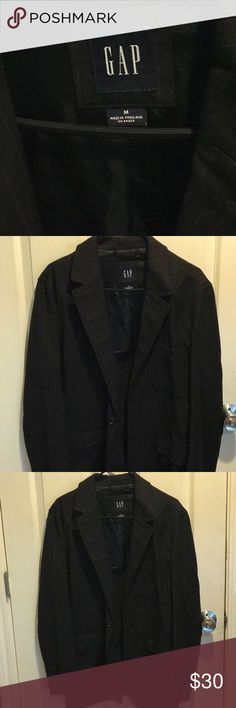 gap sport coat Black with red pinstripes great condition Gap Suits & Blazers Sport Coats & Blazers