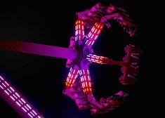 Fireball at night California Beach, Amusement Park, Night, Santa Cruz