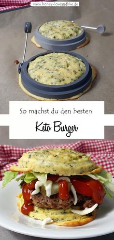 So machst du den beste Keto Burger  #KetoBurger #Lowcarb #Keto Low Carb High Fat, Keto Burger, Eat Lunch, Picky Eaters, Lchf, Low Carb Recipes, Lifestyle Blog, Good Food, Honey