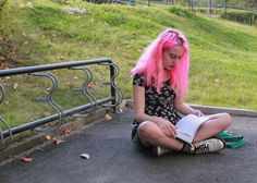 Directions Carnation Pink and A Quick Life Update. - A Girl Of Some Importance Grunge Fashion Soft, Soft Grunge, 90s Grunge, Carnations, Pretty Dresses, Make Me Smile, My Hair, Indie, Fashion Outfits
