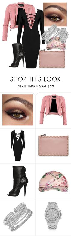 """""""My First Polyvore Outfit"""" by nenszi ❤ liked on Polyvore featuring Fracomina, Posh Girl, Valentino, Giuseppe Zanotti, Gucci and Audemars Piguet"""
