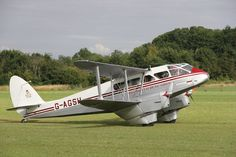 1945 DH89A Rapide Taxiing Photographed at Old Warden