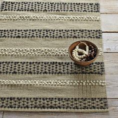 Knitted Dots Rug #WestElm