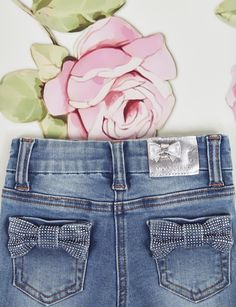MONNALISA BEBE' Spring/Summer 2017 #itsagirl #pink #fashionkids #roses #bowtie #denim #myfirstoutfit