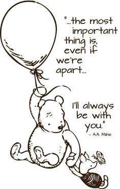 Mom loves Pooh and his little sayings. When I was growing up, Mom had a denim jumper with Pooh and friends on it. Every time I see Pooh, I remember that jumper and her. Christopher Robin Quotes, World Disney, Winnie The Pooh Quotes, Winnie The Pooh Tattoos, Piglet Quotes, Pooh Bear, Grief, Me Quotes, Quotes Girls