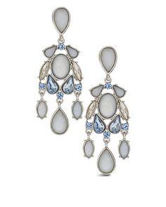 Love chandelier earrings! Chico's Laurie Blue Chandelier Earring #chicossweeps