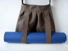 Yoga Mat Bag with Straps Dark Brown Handmade Babimini by Babimini