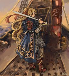 Cool Drawings, Pirates, Sailing, Art Projects, Princess Zelda, Victoria, Concept, Sea, Sunset