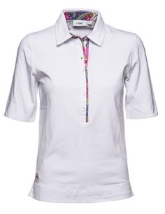 Anna S/S Polo Shirt 88% Polyester. 5% Spandex. Quick Dry. Single Jersey. Technical Stretch. Printed Trimming. #golfshit #Florida #wintersale