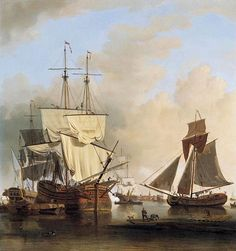 Shipping on the Thames off Rotherhithe by Samuel Scott - Canvas Art Print London History, Historical Romance, Tall Ships, Ship Art, Old Master, Royal Navy, Nautical Theme, Sailing Ships, 18th Century