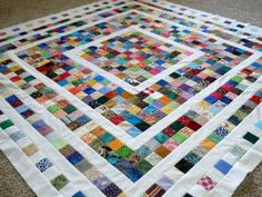 Scrap Basket Quilt Tutorial- go as big or little as you need.