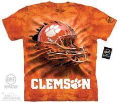 Clemson University - Clemson Breakthru Helmet Adult Tee - $27.99   Shop where every purchase helps shelter pets!