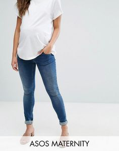 Get this Asos Maternity's skinny jeans now! Click for more details. Worldwide shipping. ASOS MATERNITY RIDLEY Skinny Jean In Mid Wash With Over The Bump Waistband - Blue: Maternity jeans by ASOS Collection, Stretch denim, Mid-blue wash, Over-the-bump stretch jersey waistband, Supports your growing bump, Concealed fly, Functional pockets, Skinny-cut leg, Designed to fit through all stages of pregnancy, Machine wash, 98% Cotton,2% Elastane, Our model wears a UK 8/EU 36/US 4 and is 173cm/5'8…