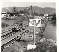 """1943- U.S. 5th Army """"Manhattan Bridge"""", named for the bridge over the East River…"""