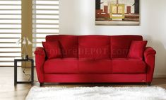 Red Microfiber Couch - These couches by design are a lot more comfortable than other furniture in your home, which makes t Microfiber Couch, Best Sleeper Sofa, Sofa Furniture, Sofa, Couch Set, Microfiber Sofa, Leather Sofa, Bedroom Sofa, Couch