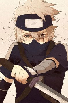 Little Kakashi is so freaking adorable<3 anime justice boy