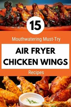 Get ready to discover your new favorite wings recipe! This air fryer chicken wings roundup has something for every taste - sauces and dry rubs, breaded and naked, hot, mild, sweet, savory, and exotic. For beginners we even included a basic how-to recipe with success tips. Wing fans don't miss this! #airfryer #airfryerrecipes #airfryerchickenwings #chickenwings