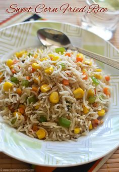 Trendy Ideas Healthy Recipes Easy For One Ovens Sweet Corn Recipes, Easy Rice Recipes, Veg Recipes, Easy Chicken Recipes, Easy Healthy Recipes, Indian Food Recipes, Vegetarian Recipes, Drink Recipes, Crack Crackers