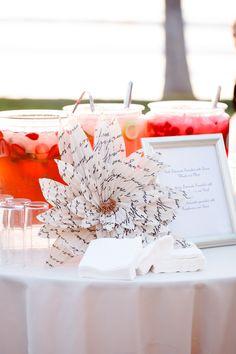 #paper-goods  Photography: Ashlee Raubach Photography - www.ashleeraubach.com  Read More: http://www.stylemepretty.com/2014/04/30/black-white-blush-seaside-wedding/