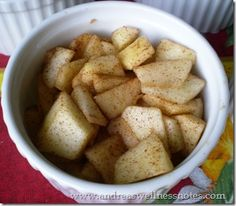 Mini Apple Crisps - individual apple crisps in ramekins.