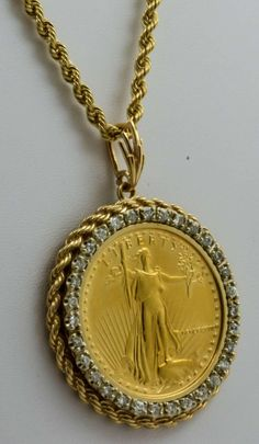 View this item and discover similar pendant necklaces for sale at - The . Coin Pendant, Pendant Necklace, Gold Bullion Bars, Locket Design, Gold Coin Necklace, Gold Chains For Men, Jewelry Design Earrings, Cross Jewelry, Gold Set