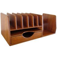 A Hans Wegner Danish teak wood desk organizer c.1960's: